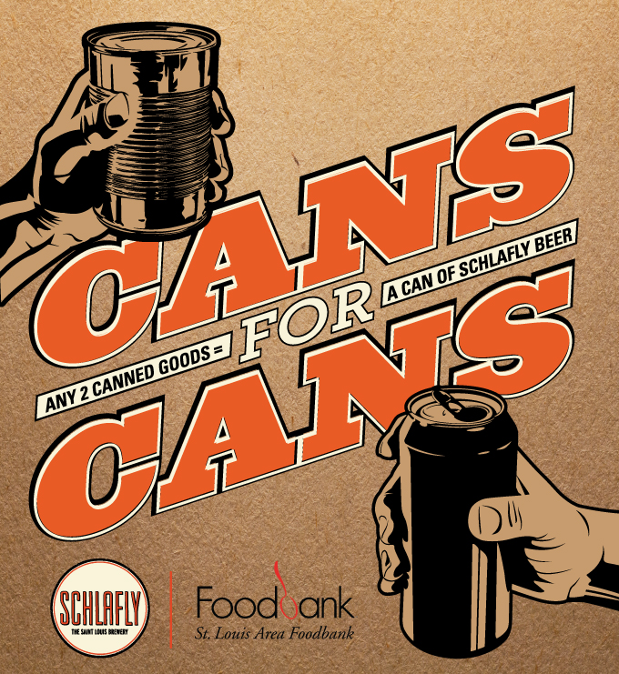 Get free beer and help St. Louis in Schlafly's 'Cans for Cans' food drive