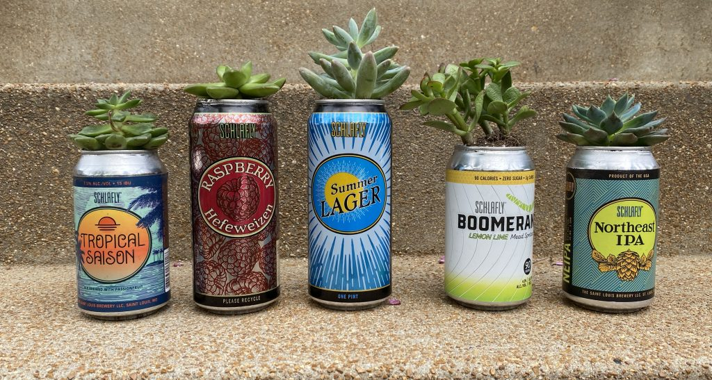 Make This: DIY Schlafly Beer Can Planter